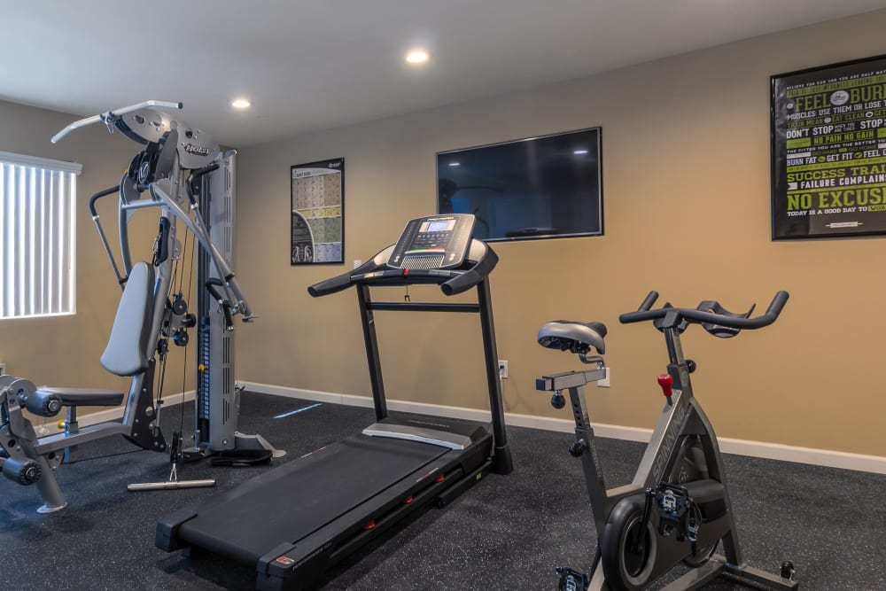 State-of-the-art fitness center at The Diplomat in Studio City, California