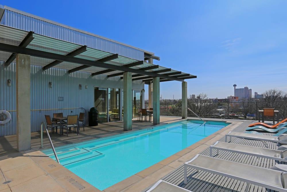 Large pool at 1221 Broadway Lofts