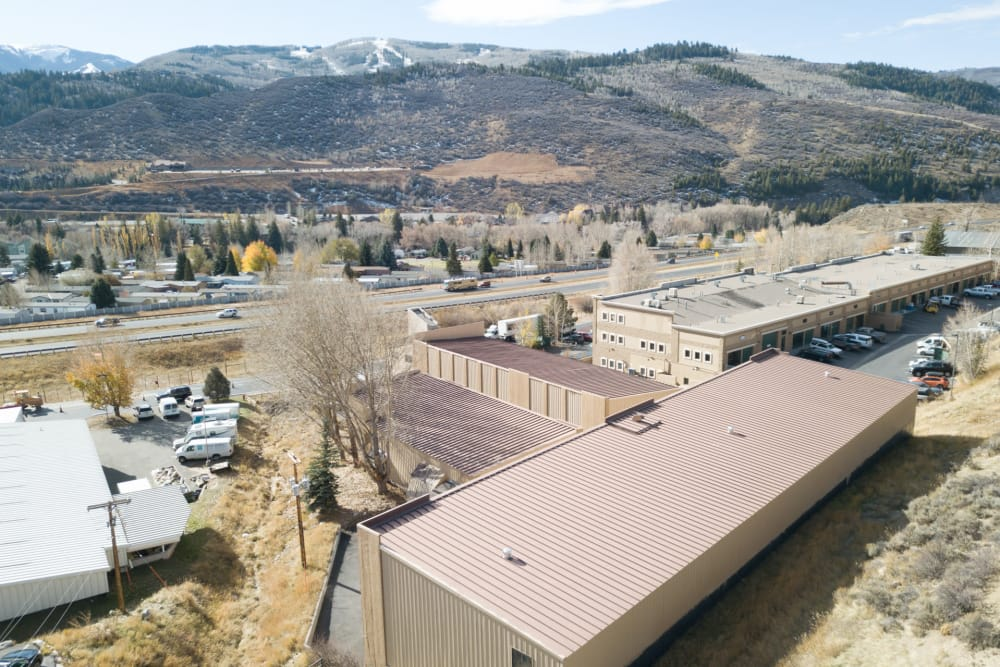 Aerial view of Prime Storage in Avon, Colorado