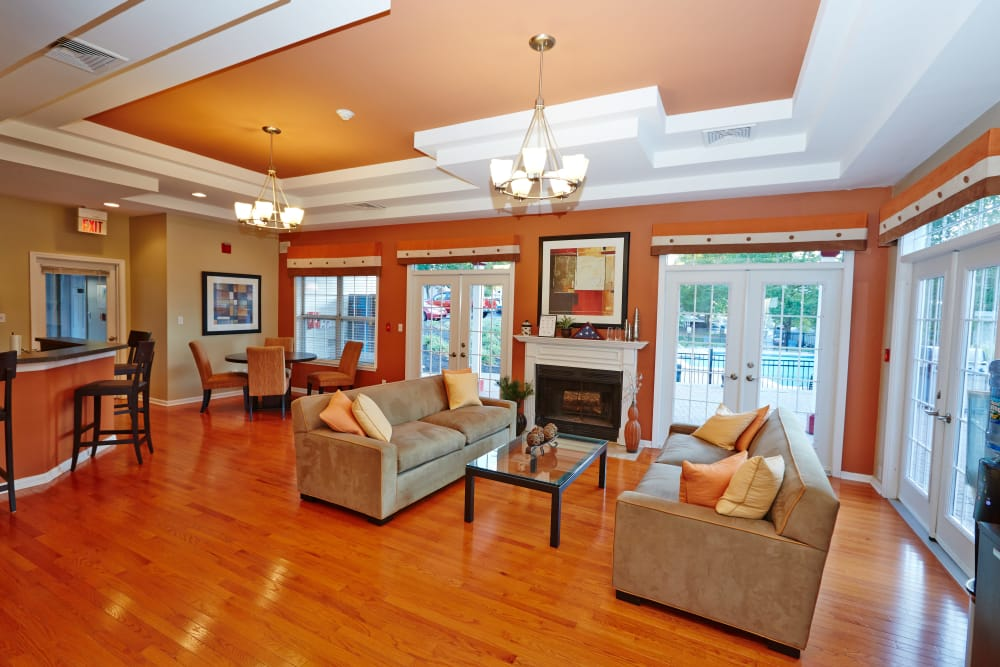 Interior of the Middletown Brooke Apartment Homes clubhouse