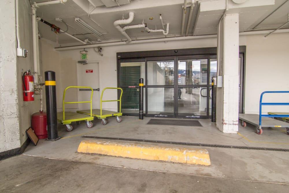 Covered loading area at Prime Storage in Avon, Colorado
