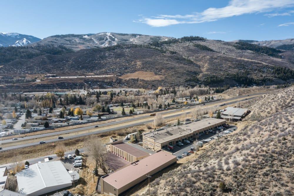 Aerial view of Prime Storage in Avon, Colorado