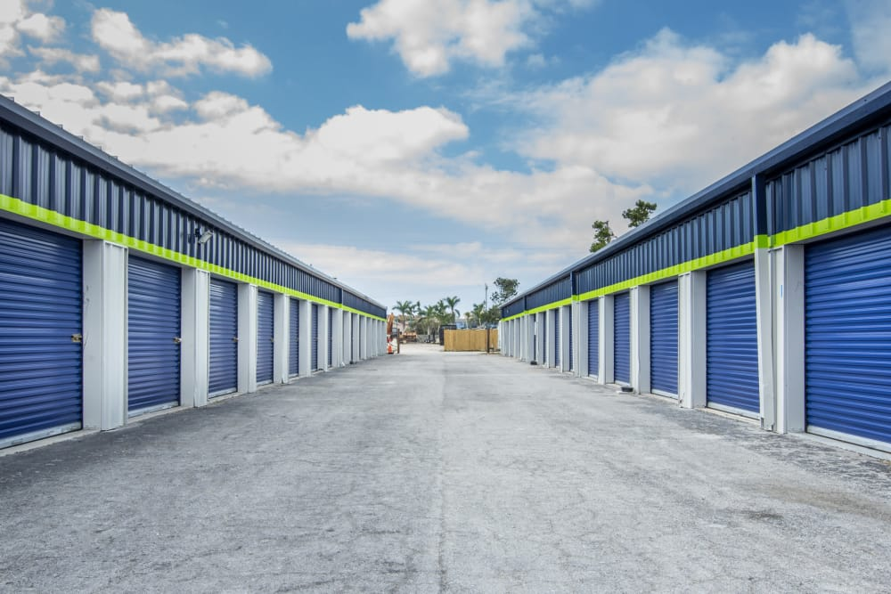 Drive-up units at Prime Storage in Marco Island, Florida
