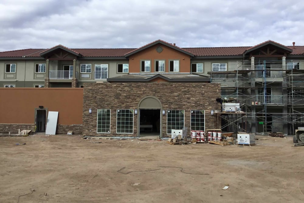Construction in progress at The Enclave at Gilbert Senior Living