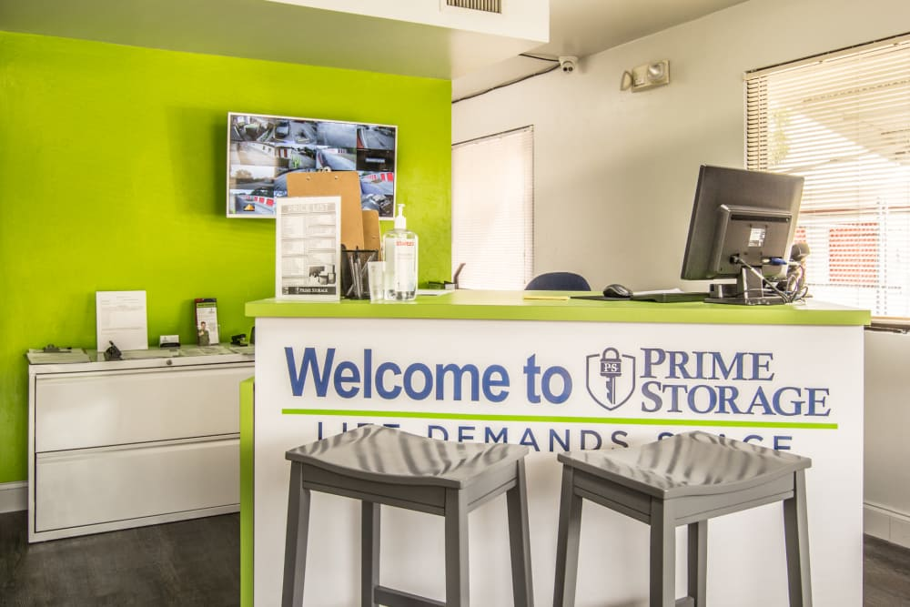 Leasing office at Prime Storage in North Fort Myers, Florida