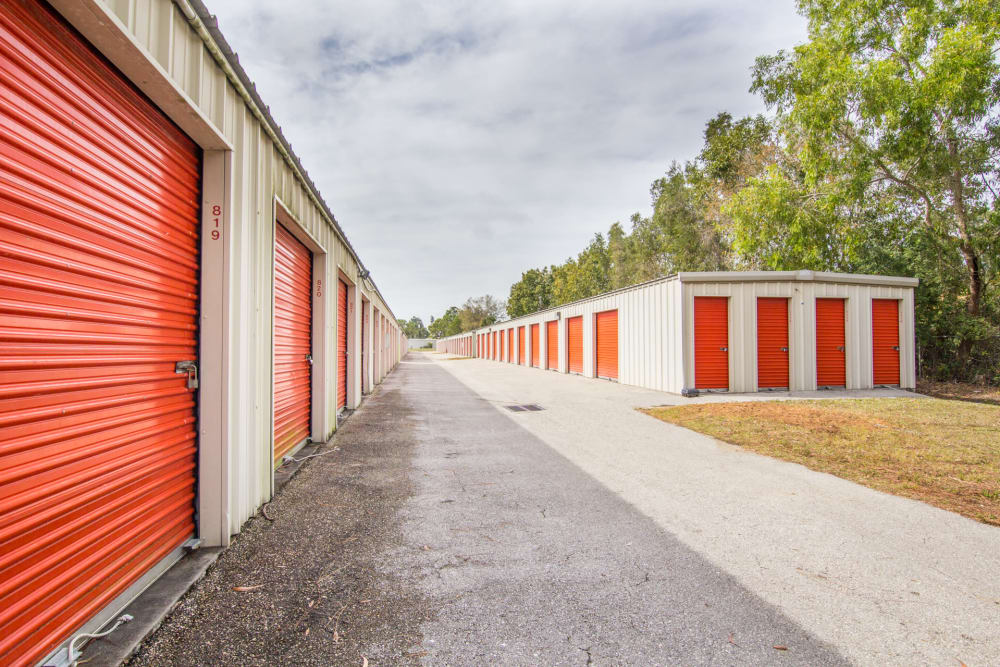Prime Storage in North Fort Myers, Florida has drive-up units