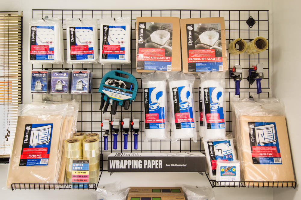 Supplies for sale at Prime Storage in North Fort Myers, Florida