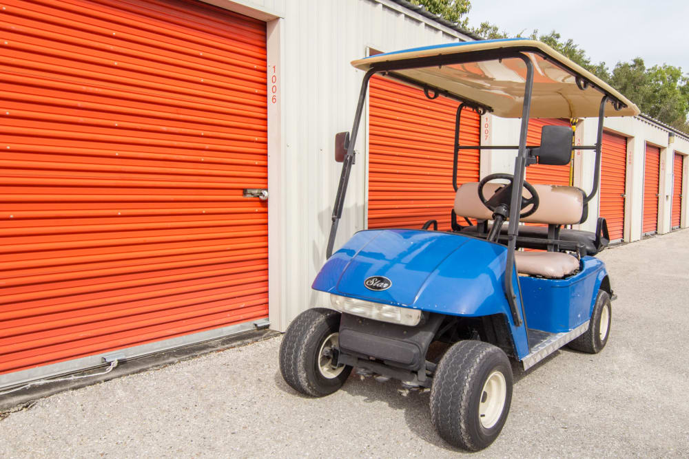 Maintenance cart at Prime Storage in North Fort Myers, Florida