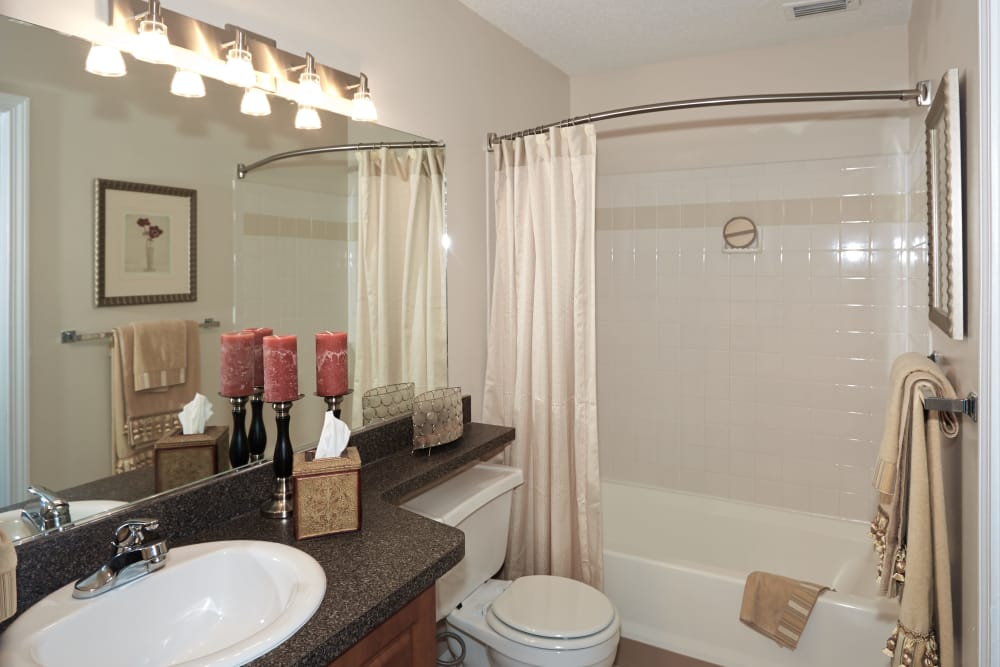 Spacious bathroom at Middletown Ridge Apartments in Middletown