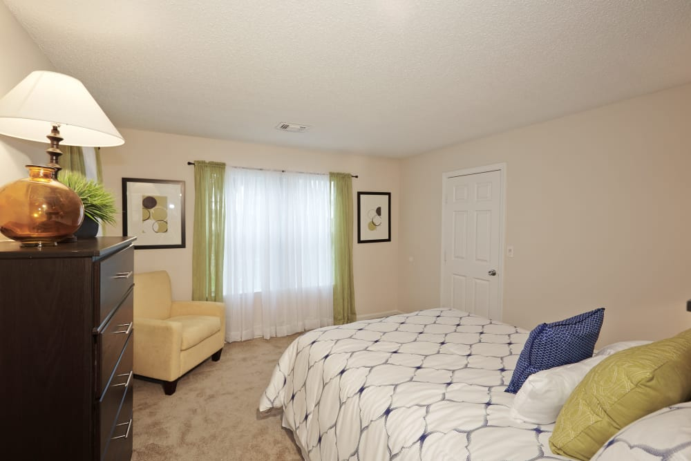 Enjoy a comfy bed at Middletown Ridge Apartments in Middletown, Connecticut