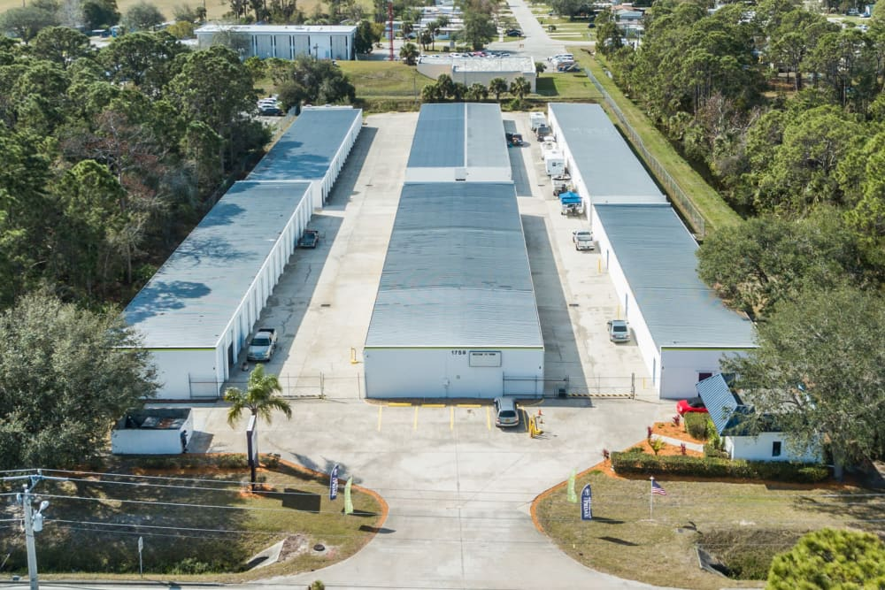 Prime Storage in Rockledge, Florida aerial view