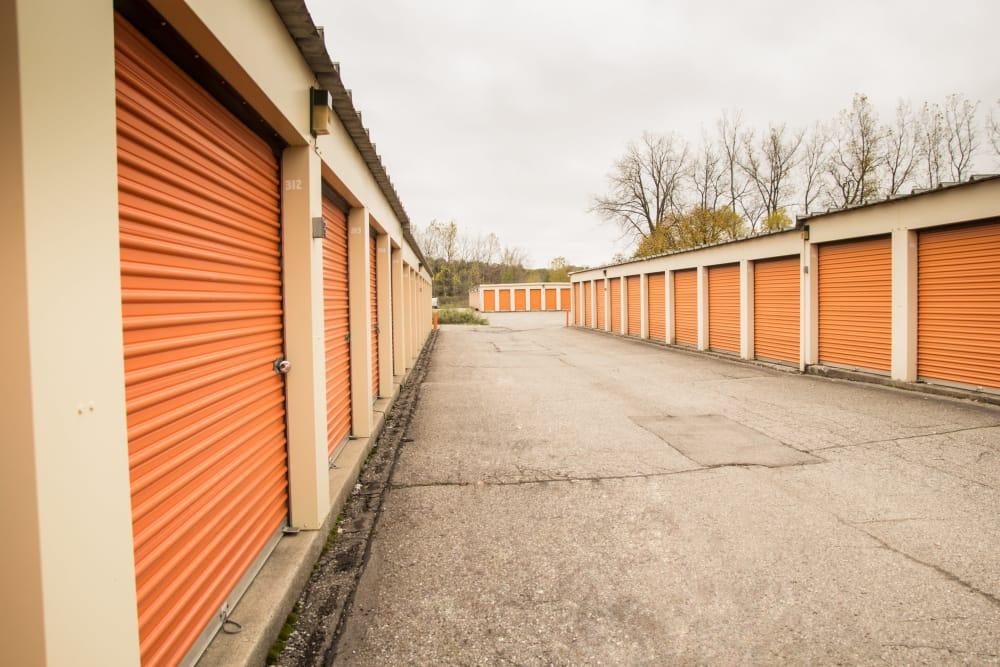 Prime Storage has large driveways in Lansing, MI
