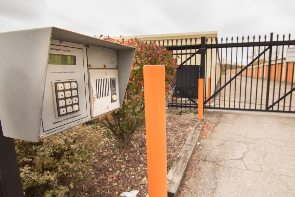 Electronic gate at Prime Storage in Lansing, MI