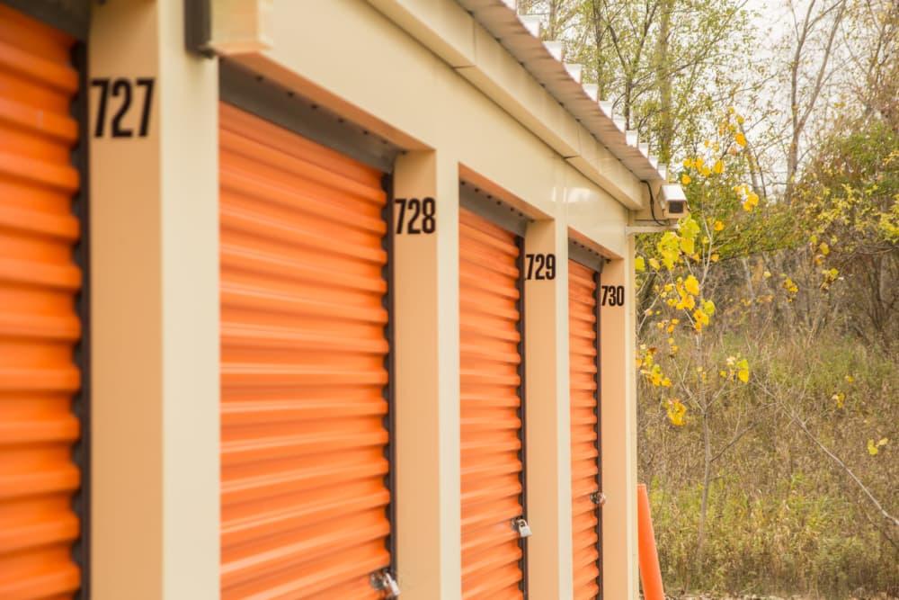 Outdoor storage units at Prime Storage in Lansing, MI