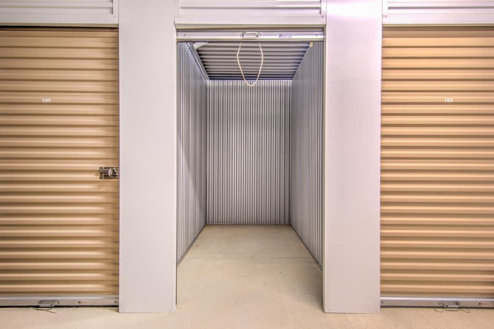 Indoor locker units at Prime Storage in Marietta, Georgia