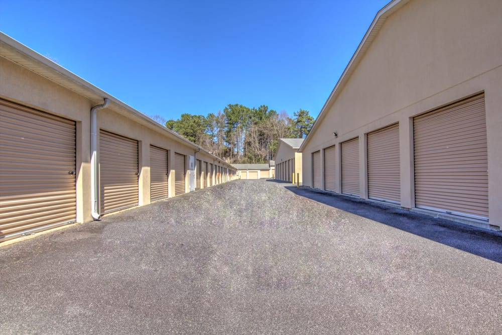 Drive-up units at Prime Storage in Marietta, Georgia