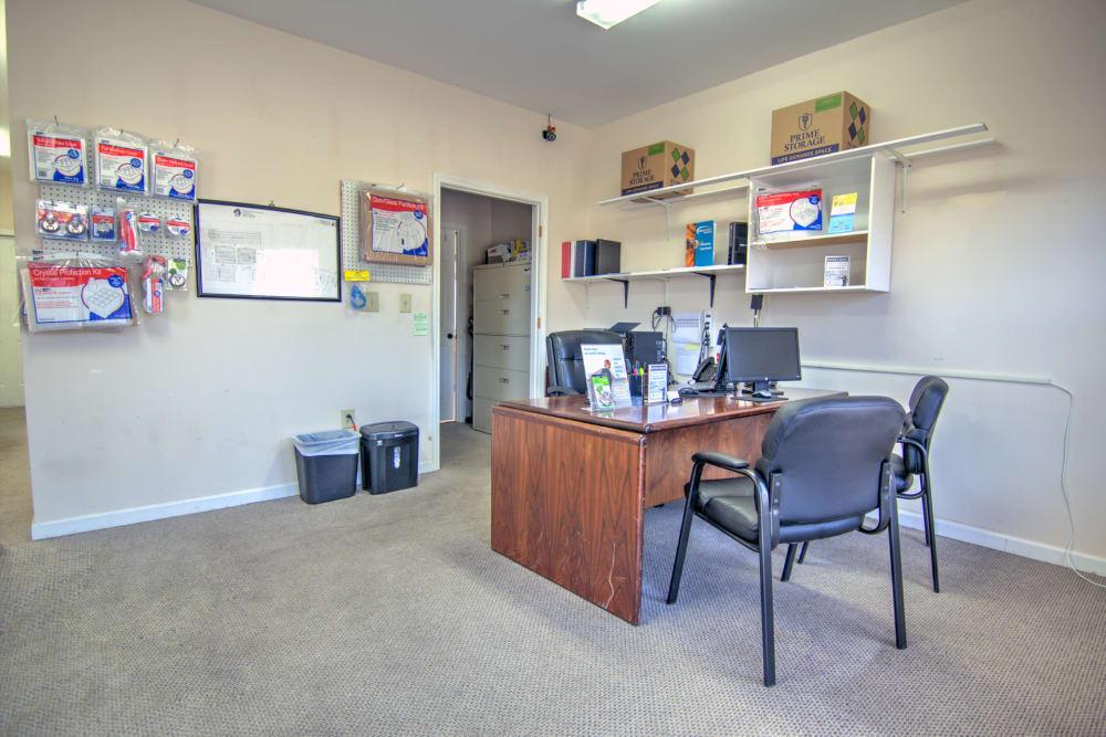 Leasing office at Prime Storage in Marietta, Georgia