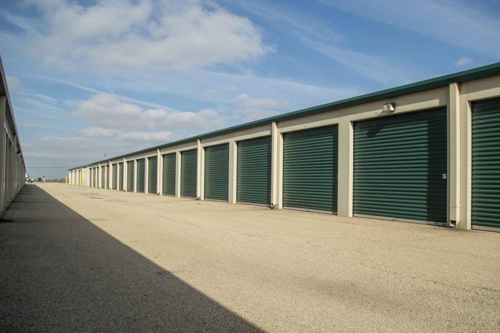 Prime Storage has large driveways in Bondville, Illinois