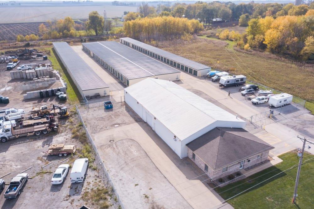 Aerial view of Prime Storage in Bondville, Illinois