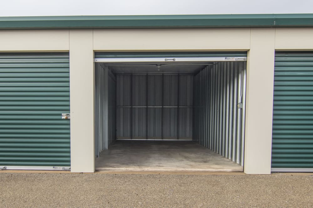 Drive-up units at Prime Storage in Bondville, Illinois