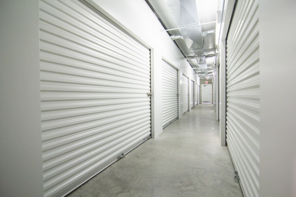 Hallway Of Units At Prime Storage In Champaign, Illinois