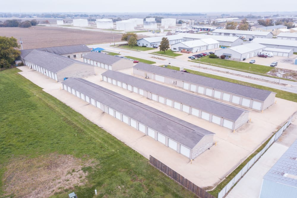 Aerial view of Prime Storage in Champaign, Illinois
