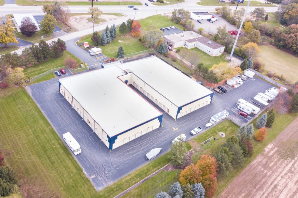 Aerial view of Prime Storage in West Chicago, IL