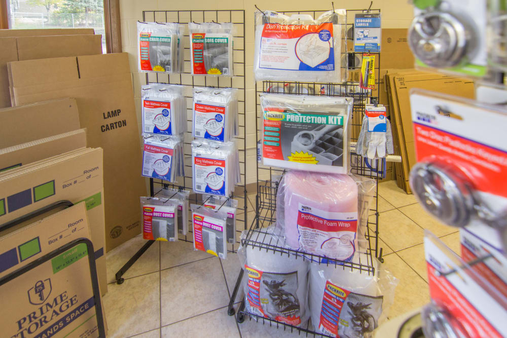 Packing supplies for sale at Prime Storage in West Chicago, IL