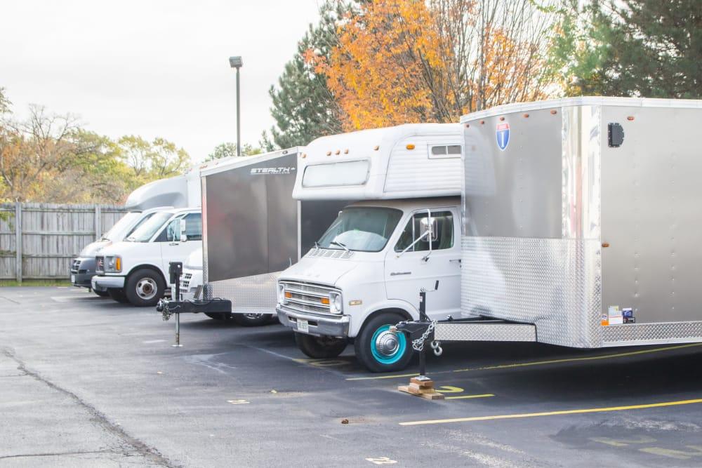 Outdoor RV storage at Prime Storage in West Chicago, IL