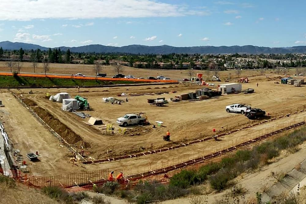 Future location of Silverhawk Self Storage in Murrieta