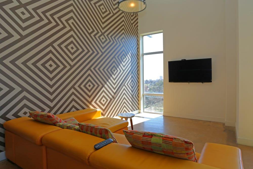 lounge at 1221 Broadway Lofts