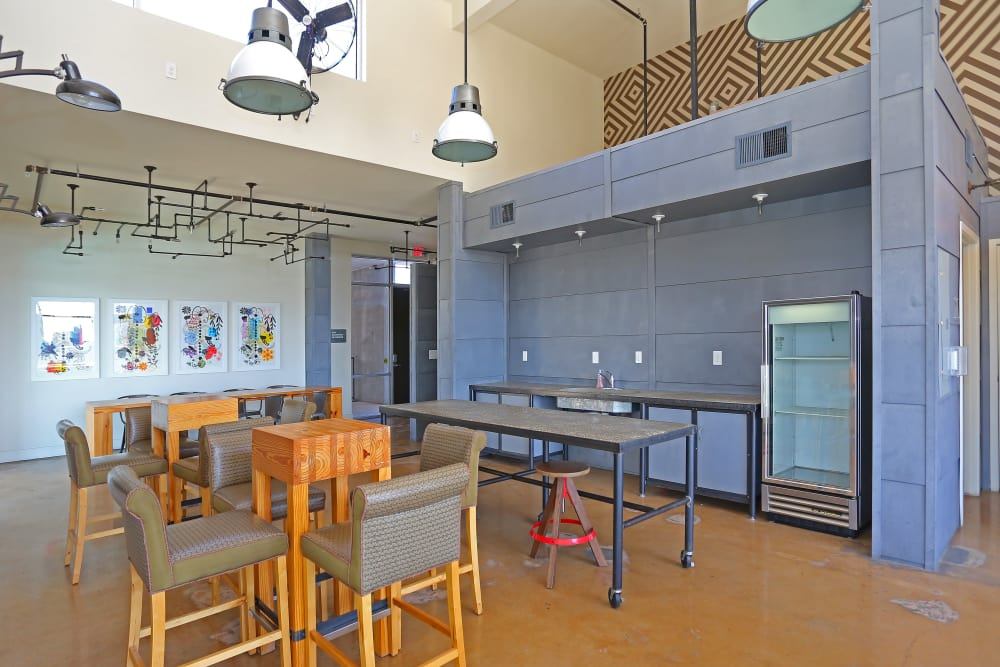 dining area at 1221 Broadway Lofts