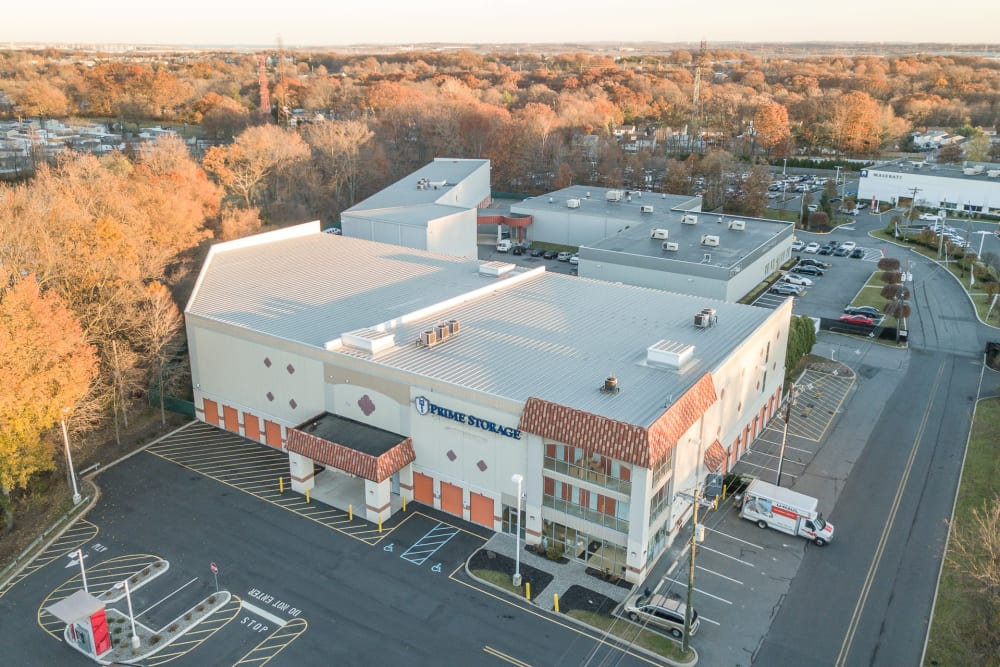 Aerial view of Prime Storage in Edison, NJ