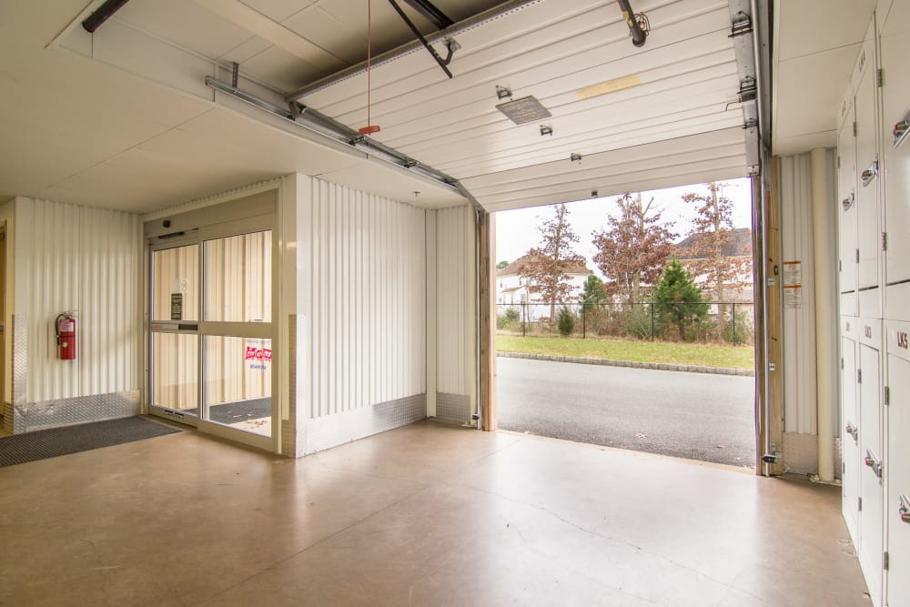 Prime Storage in Egg Harbor Township, NJ has a covered loading area