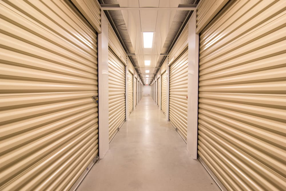 Well-lit interiors at Prime Storage in Egg Harbor Township, NJ