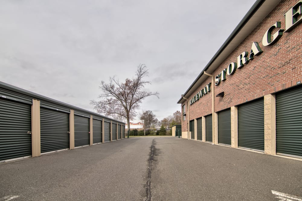 Wide driveways at Prime Storage in Freehold, NJ