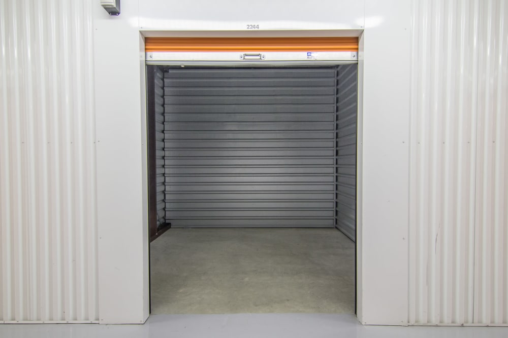 Open storage unit at Prime Storage in North Brunswick Township, NJ