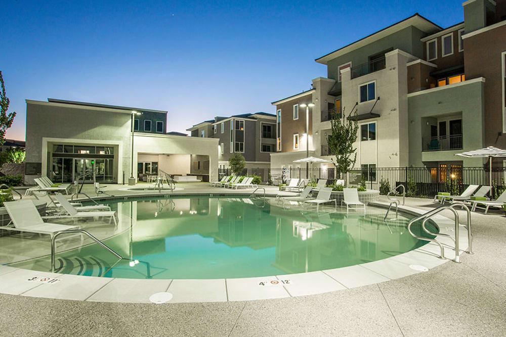Modern swimming pool at Elysian West in Las Vegas, Nevada