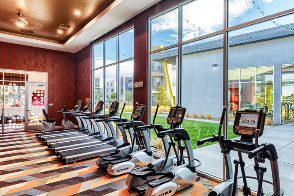 Fitness center at Elysian West in Las Vegas, Nevada