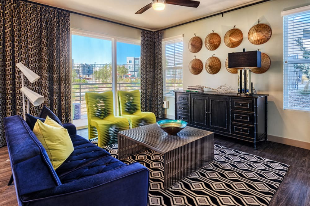 Living room at Zerzura Apartments in Las Vegas, Nevada