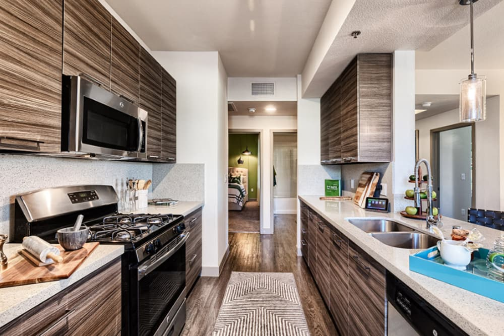 Modern kitchen at Elysian West in Las Vegas, Nevada