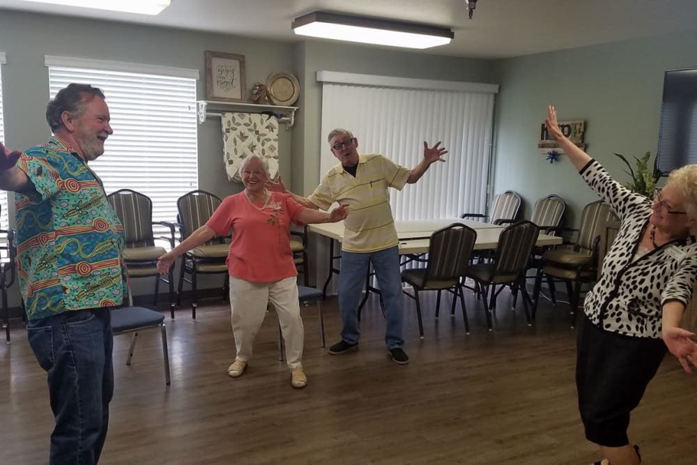 more residents dancing