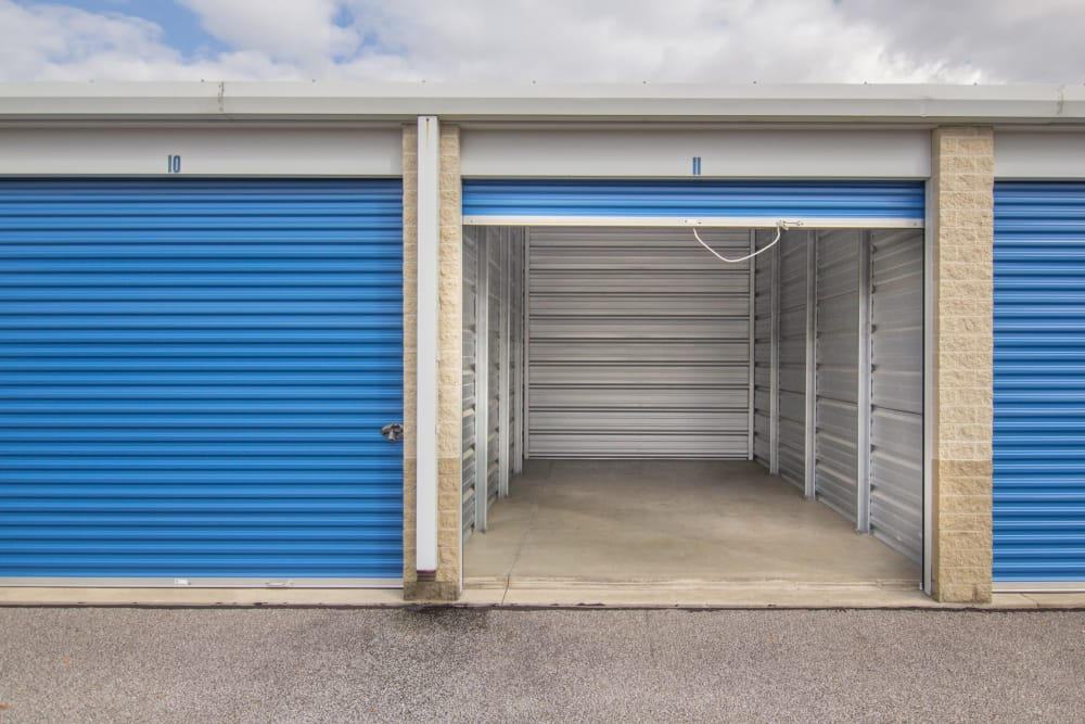 Large drive-up unit at Tyler Self Storage in Mentor, OH