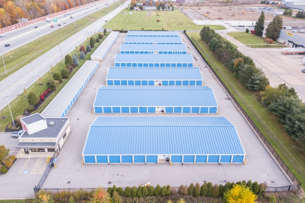 Aerial view of Tyler Self Storage in Mentor, OH