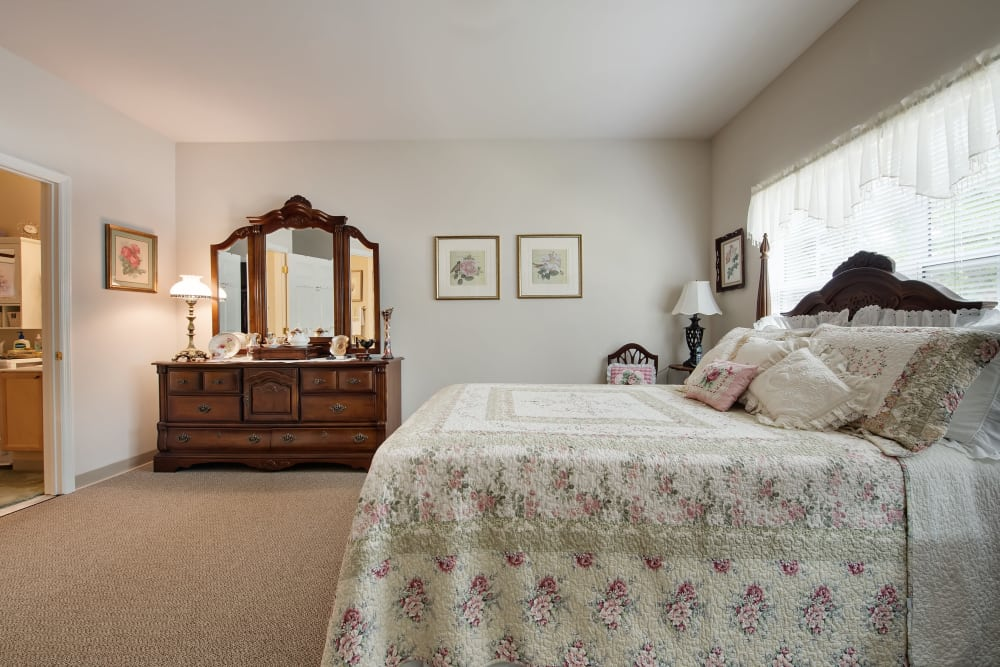 Model bedroom at Azalea Estates of Fayetteville