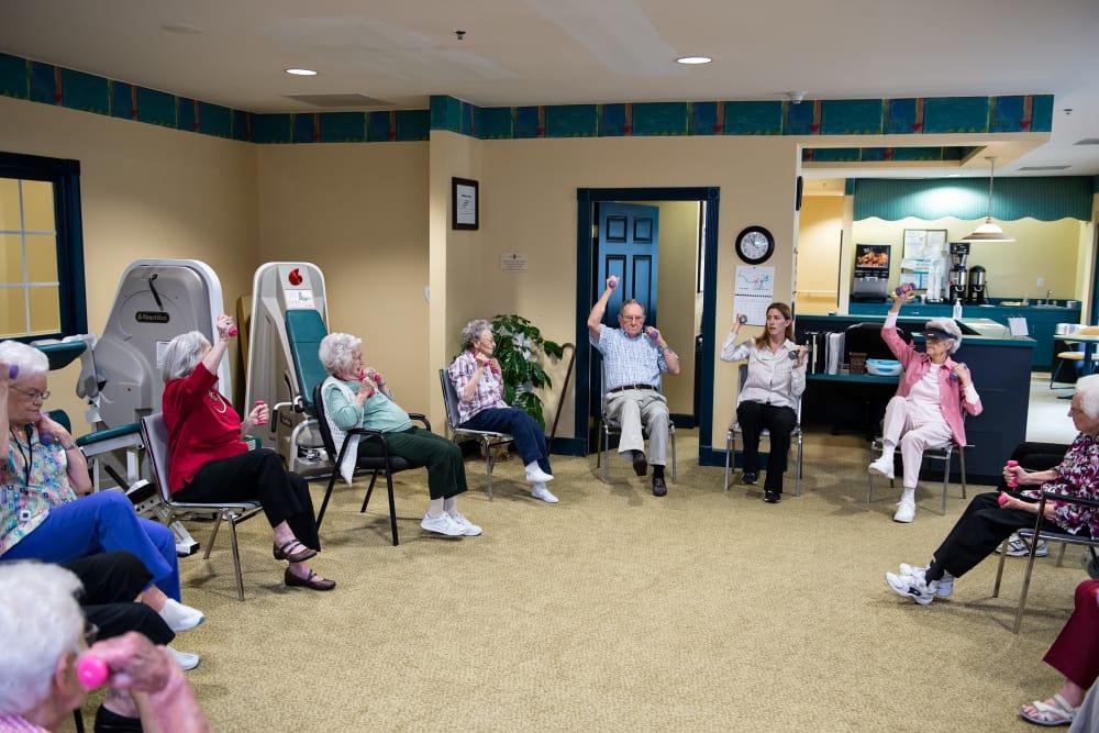 Group wellness activities at Azalea Estates of Fayetteville in Fayetteville, Georgia