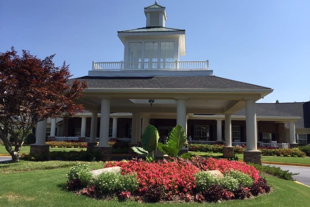 Main building on the Azalea Estates of Fayetteville campus