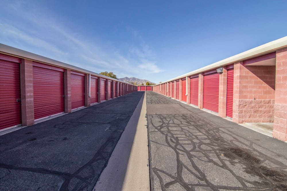 Drive-up units at Prime Storage in West Valley, UT
