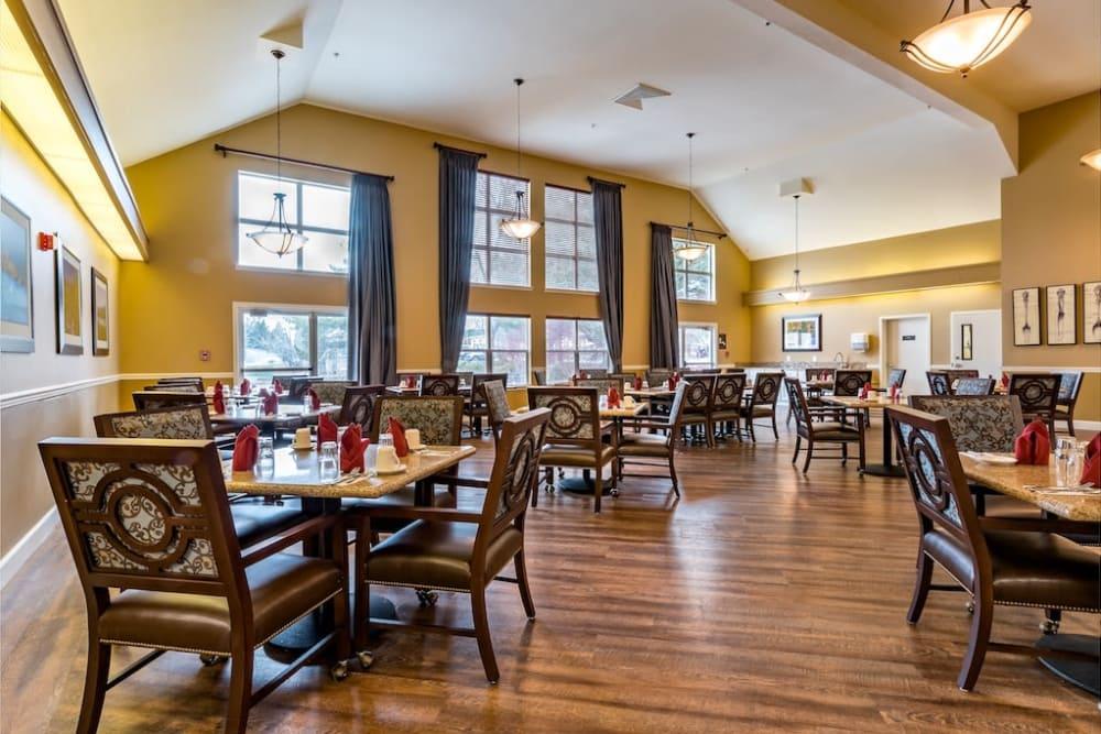 Spacious dining room at Pacifica Senior Living Klamath Falls in Klamath Falls, Oregon
