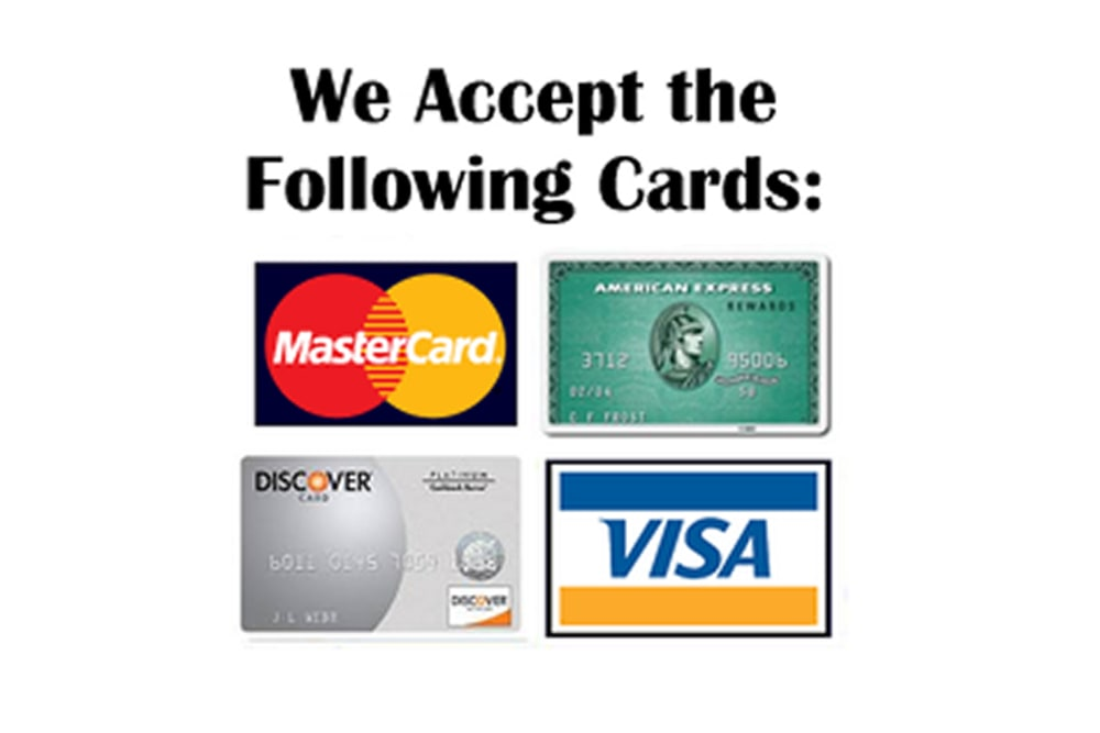 Major credit cards accepted at  Advantage Storage - McDermott Square